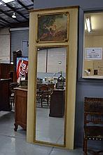 French trumeau mirror, approx 253cm H x 97cm W