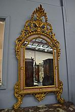 Fine antique French giltwood Rococo style arched