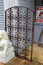 Antique French wrought iron panel, approx 150cm H