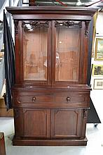 Antique 19th century mahogany two height, two door