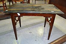Antique Georgian inlaid table with later faux