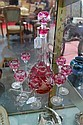 Val St Lambert ruby overlay liqueur set, Val Saint Lambert, Click for value