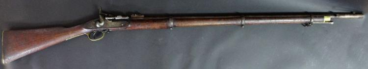 British Snider rifle in 577 calibre as officially converted from Pattern 1853 percussion rifle. Dated 1858. Serial no. 9665, in reasonable condition