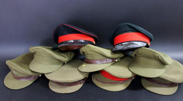 Lot of nine various Australian army peaked caps
