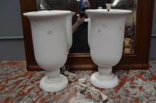 Two plaster urn form light, each approx 46cm H (2)