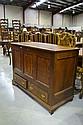 Antique English oak mule chest