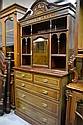 Fine antique inlaid dresser sideboard, with ivory