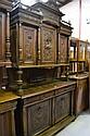 Antique French Henri II walnut two height buffet