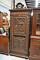 Antique French Brittany single door armoire