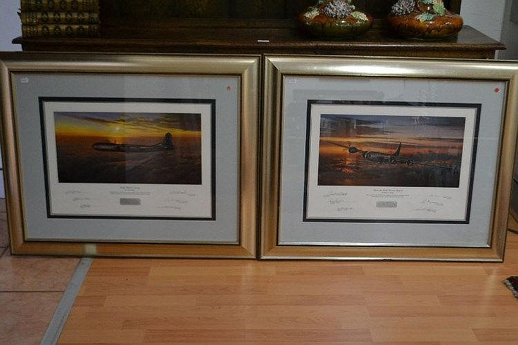 Matched set of large frame prints limited to 300