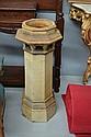 Large antique pottery chimney