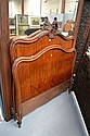Antique French Louis XV style walnut bed