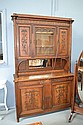 Antique French Louis XVI walnut buffet. Carved
