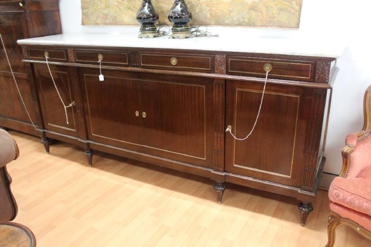 Louis xvi style mahogany credenza mid 20th century rectang for Meuble mid century montreal