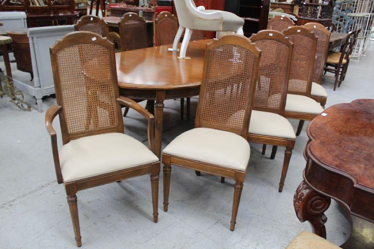 dining room chairs with wicker backs to include two carvers