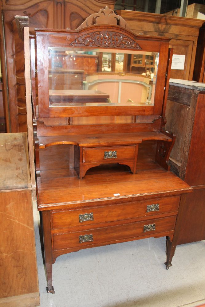Antique edwardian dressing table with two long drawers belo for Dressing table long