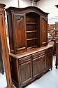 French Louis XV two piece buffet, open centre