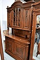 Antique French Louis XVI two piece buffet. H: