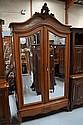 Antique French Louis XV walnut armoire. 246cm h x