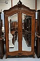 Antique French Louis XV walnut armoire. H:230cm W: