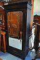 Antique French floral parquetry inlaid single door