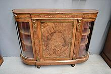 Antique Walnut credenza, glazed display ends,