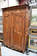Antique French Louis XV early 19th century walnut