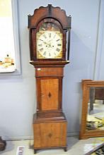 Antique Georgian Mahogany and oak longcase clock