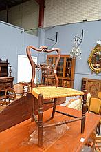 19th century French Childs chair with cane seat