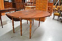 Antique French turned leg cherrywood extension