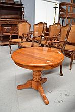 Solid oak circular occasional table, approx 56cm H
