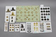 A fine group of Australian Staff Corps, RAA, AFA badges, titles, buttons, etc. Approximately 100 items.