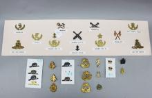 A fine group of Australian military badges. Approximately 27 items