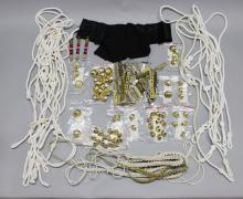 A fine group of Australian military lanyards, badges, etc.