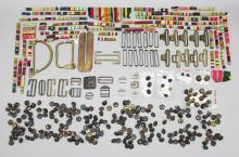 A fine group of Australian military buckles together with 40 medal ribbon bars.