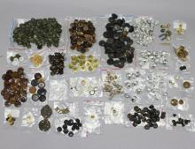 A fine group of Australian military buttons, etc. Over 500 items
