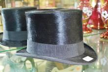 Antique French seal fur top hat