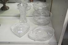 Small collection of crystal to include Stuart & Waterford, approx 20cm H and smaller