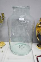 Large French preserving bottle with rolled lip, approx 45cm H x 26cm W
