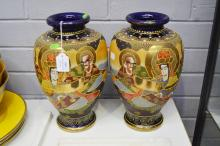 Pair of Japanese vases, each approx 31cm H (2)