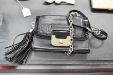 Diane Von Furstenberg (DVF) Black Harper mini shoulder bag. Good condition