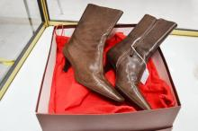 Bally ladies ankle boots, Tropea/ 05 Taupe Dark Kid Brush. 2