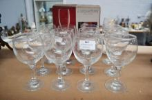 Assortment of wine & champagne glasses, each approx 16cm H