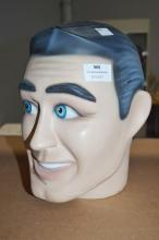 Vintage Male mannequin head, approx 26cm H