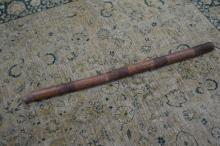 Aboriginal didgeridoo, painted with natural earth pigments on a shaft of bamboo, 136 cm long