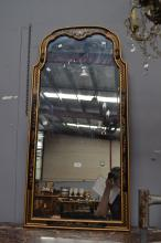 Chinoiserie decorated  Queen Anne style mirror, approx 100cm H x 60cm W