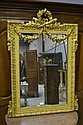 Antique French gilt surround mirror, displaying a