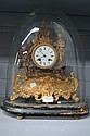 Antique French giltmetal clock under dome