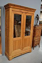 Antique French Louis Philippe Cherry wood two door