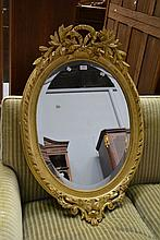 Antique French Louis XV style oval gilt surround